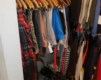 So. Many. Clothes. And Shoes!  Everything from Pjs to 3-piece suits.