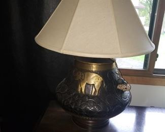 Gorgeous lamp with elephants