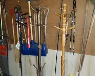 3 of 4 coat racks, more tools