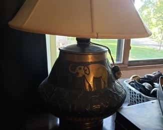 Gorgeous elephant themed lamp
