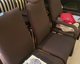 Set of 8 Dayton's fabric dining room chairs