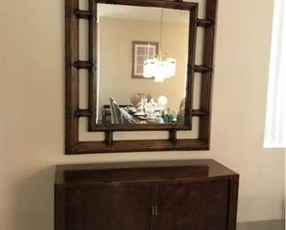 Sideboard Credenza and Mirror by Henredon