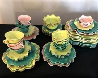 1930s petal dishes mix & match, made in Italy