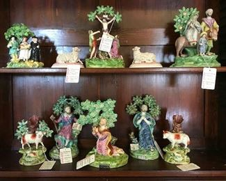 Staffordshire Figures with bocage