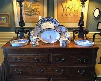 English oak mule chest