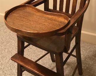 "Vintage  hi-chair 41"" tall."