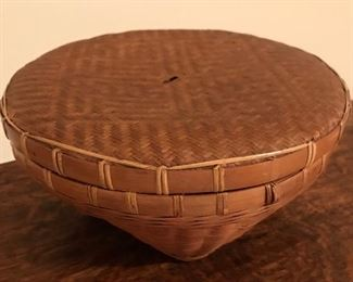 Basket with lid.