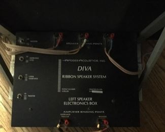 Back of DIVA Ribbon Speaker System by Apogee Acoustics, Inc (PAIR) Paperwork available.