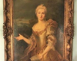 18th Century Portrait, No signature Needs Repairs