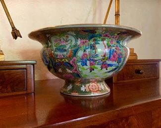 Rose Medallion footed bowl.