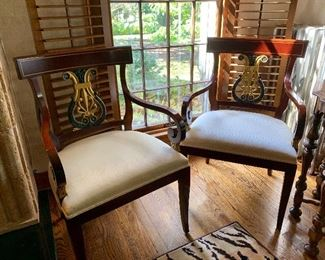 A fine pair of armchairs.