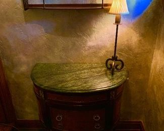1920-30s French marble top ormalu side table.