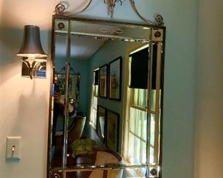 A pair of ornate mirrors.