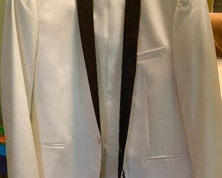 Beautiful white dinner jacket.