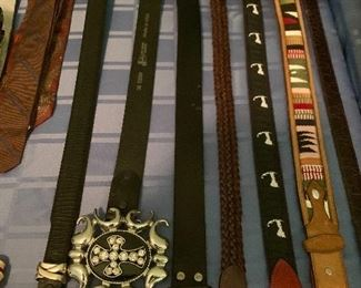 Belts of all kinds.