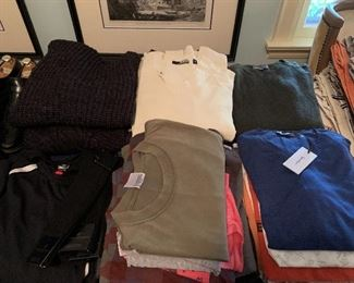 Various shirts,sweaters,tops.