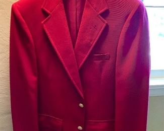 Handsome red dinner jacket.