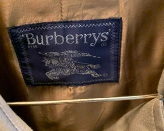 Burberry coat.