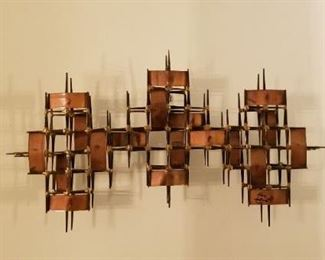 Ron Schmidt signed wall sculpture.... mid century