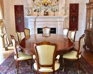 French dining table and 12 chairs