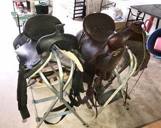 """Tucker 17"""" and King 15"""" saddles"""