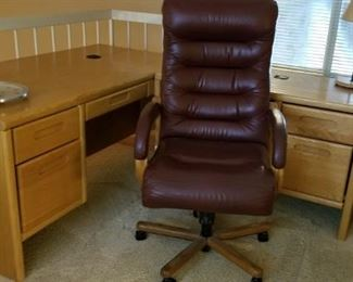 Executive Office Chair and Desk