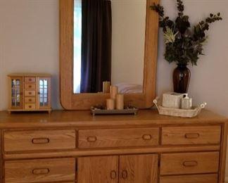 Mirror and Dresser Set