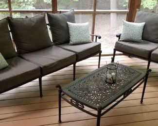 Outdoor Loveseat and Sofa