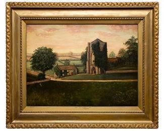 A Millington Surrey Lane oil on Canvas