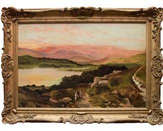 F Davis Oil on Canvas