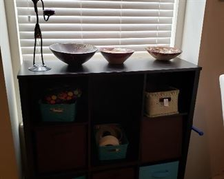 Can you say 'Must Have' Storage Cabinet! Display Bowls, Figural Candle Holder