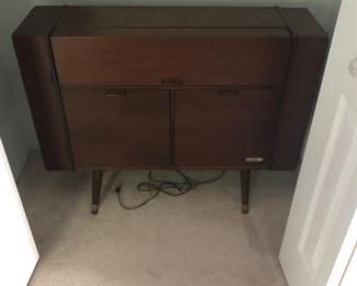 Surfer stereo cabinet mid century