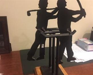 CHARLES RINGER KINETIC GOLFER SCULPTURE - GREAT CHRISTMAS PRESENT FOR YOUR FAVORITE GOLFER!