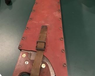 VINTAGE BUHRKE LINEMAN'S SAW WITH SHEATH BELL TELEPHONE?