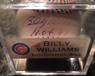 CUBS BILLY WILLIAMS SIGNED BASEBALL