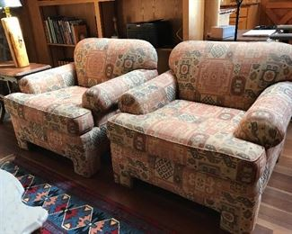 Pair of comfy, custom built chairs by DFI Upholstery, Portland, OR