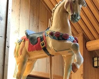 Antique Parker carousel horse