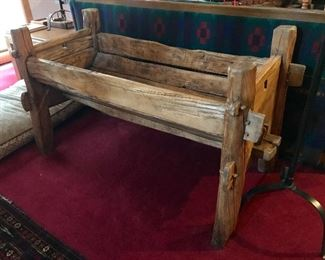 "Amazing, antique, solid wood trough - must see!  Measures 53"" l x 26"" w x 23"" h"