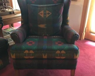Pendleton fabric covered arm chair - matches sofa