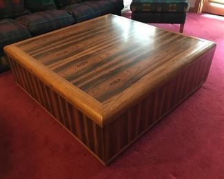 Gorgeous large custom built rosewood coffee table - 4' x 4'