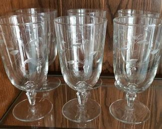 Princess House Heritage Floral Etched Stemware
