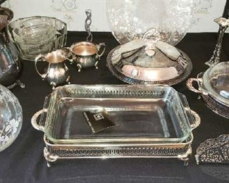 Silver Plate and Glass