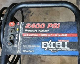 2400 PSI Excell Pressure Washer