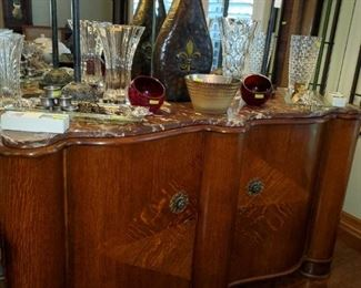 Marble top buffet...