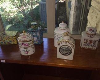 antique/vintage tea caddies
