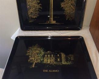 vintage Texas trays