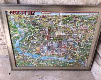 Austin landmark map from 1979