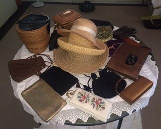 women's purses and hats