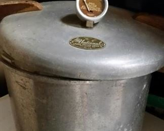 1940 era National large canning pressure cooker