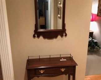 Hitchcock furniture company side board with brass gallery and mirror